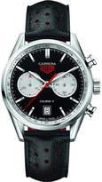 Tag Heuer CV211DFC6310 Carrera calibre 17 round leather strap watch