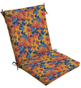 Ebern Designs Floral Outdoor Dining Chair Cushion