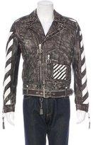 Off-White Diagonals Leather Moto Jacket