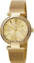 Ferré Milano Women's FM1L096M0071 Champagne Dial With Gold Mesh Stainless-Steel Band Watch.