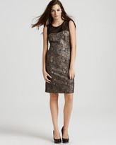 Anne Klein Dress Mesh Top Dress