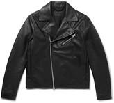 Acne Studios Axl Slim-fit Suede-panelled Leather Jacket - Black