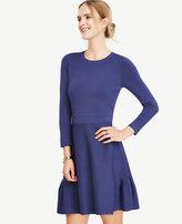 Ann Taylor Shirred Hem Swing Dress