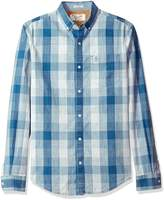 Original Penguin Men's Long Sleeve Chambray Plaid