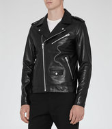 Reiss Honne Stud Leather Biker Jacket