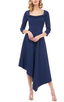 Kay Unger Arianna Stretch Crepe Midi Dress