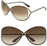 Tom Ford Women's 'Miranda' 68Mm Open Temple Metal Sunglasses - Bronze