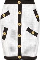 Moschino Polka-dot knitted mini skirt