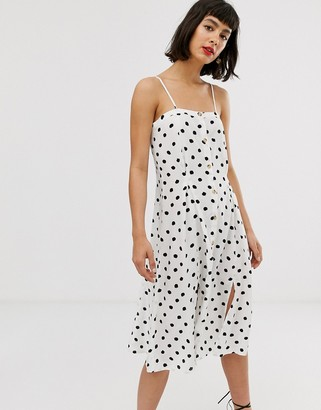 And other stories & polka dot cami dress in white