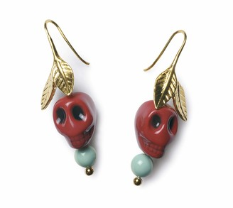 Lladro Frida Kahlo Skull Ears Earrings. Porcelain Jewelry.