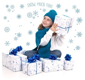 Birthday Express Snowflakes Snow Much Fun Small Wall Decal