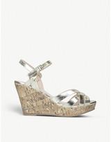 Kurt Geiger Parisian metallic faux-leather wedge sandals