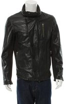 Nicholas K Leather Mock Neck Jacket