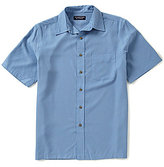 Roundtree & Yorke Big and Tall Short-Sleeve Polynosic Check Point Collar Sportshirt