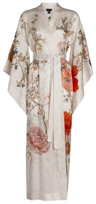MENG Silk Floral Kimono