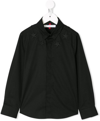 Givenchy Kids Star Embroidered Shirt