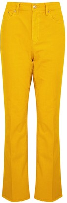 Tory Burch Yellow Bootcut Jeans