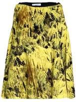 Vionnet Embellished Printed Cotton-Blend Top