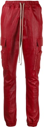 Rick Owens Larry leather cargo trousers
