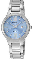 Seiko Solar Blue Dial Stainless Steel Ladies Watch