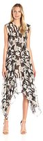 BCBGMAXAZRIA Azria Women's Jann Printed Sleeveless Dress