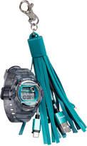 G-Shock Women's Digital Baby-g Gray Resin Strap Watch & Usb Charging Tassel Gift Set, 46mm, Created for Macy's