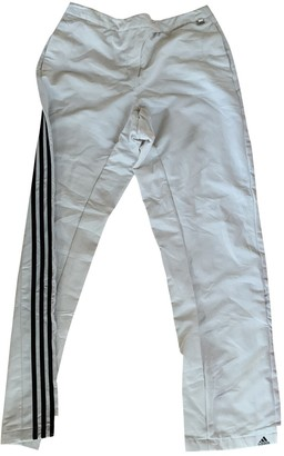 adidas White Synthetic Trousers