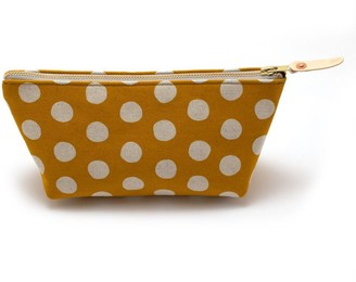 General Knot & Co Flax + Gold Dot Travel Clutch