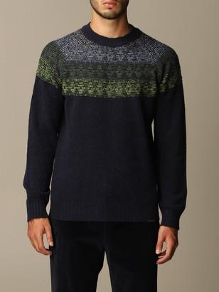 Brooksfield Crewneck Sweater With Jacquard Designs