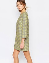 Traffic People Shift Dress In Check