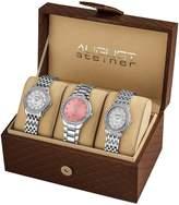August Steiner Women's AS8063SS Dazzling Diamond Swiss Quartz 3 Watch Set