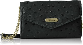 Buxton Women's Ostrich Brights Crossbody Wallet
