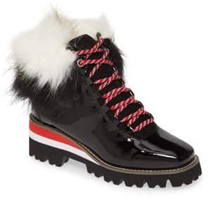 Cecelia New York Helen Faux Fur Trim Boot