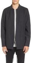 Zanerobe Aten Melton Wool Blend Longline Fishtail Bomber Jacket