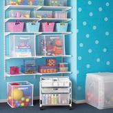 Elfa Toy Storage Shelving & Cart White