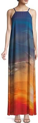 Lafayette 148 New York Leonissa Desert Ombre Maxi Dress