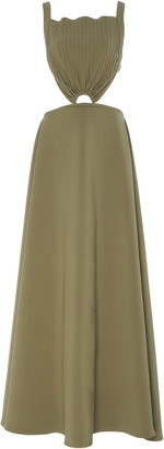 PARIS GEORGIA Max Cutout Silk-Satin Dress