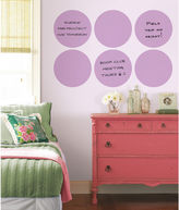 Brewster Wall WallPops Plush Dry Erase Dot Decal Set of 6
