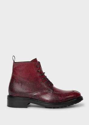 Women's Burgundy Leather 'Trent' Boots