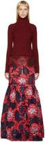 Erdem Red and Purple Madda Dress