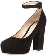 Gianvito Rossi Sherry Suede Platform Pump, Black