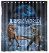 "Black Horse Background Waterproof Shower Curtain/Bath Curtain-Size: 60"" x 72"""