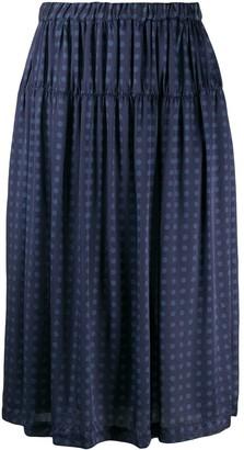 Comme des Garçons Comme des Garçons Polka Dot Skirt With Gathered Detail