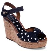 Dolce & Gabbana Polka Dot Cork Wedge Sandals