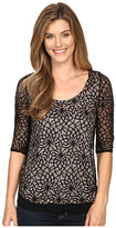 Roper 0430 All Over Lace Tee