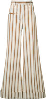 Rosie Assoulin B-Boy striped palazzo pants - women - Cotton/Linen/Flax - 2