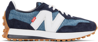 Levi's Levis Blue and White New Balance Edition 327 Sneakers