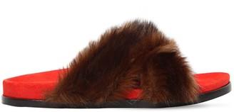 Avec Modération 20mm Faux Fur Slide Sandals
