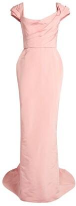Marchesa Faille Silk Gown
