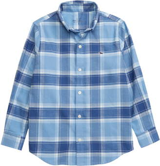 Vineyard Vines Mulberry Plaid Flannel Button-Down Shirt